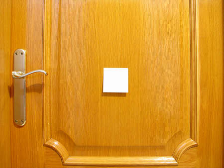 door to put a posit Messages Stock Photo - 16597374
