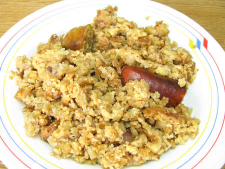 Migas Extreme plusmn as typical Spanish food excelent Stock Photo