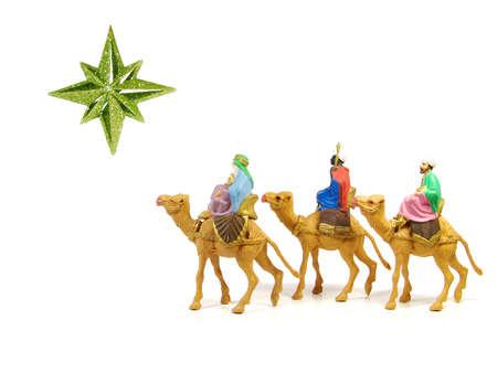 wise men: Re Magi a seguito di una stella a Betlemme