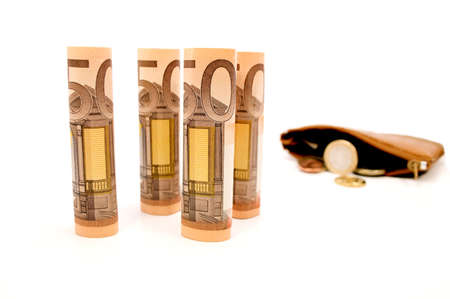 Money in my purse Stock Photo - 17240485