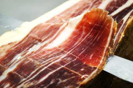 aperitive:  the court of a typical Jamon Iberico ham from Spain