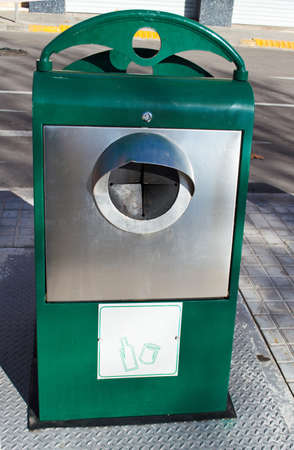 reusing: glass recycling container underground
