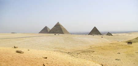 Giza Great Pyramids panoramic photo