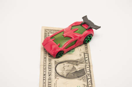 automotive  economy and one dollar a car below Stock Photo - 17683472
