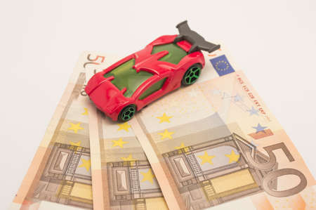 automotive  economy and fifty euro a car below Stock Photo - 17683501
