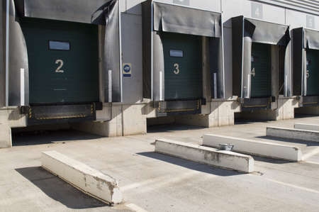 loading bay: Loading bay for trucks with numbers