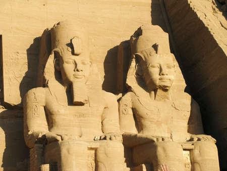 Abu Simbel heads, Egypt, Africa photo