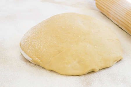 Dough and utensils to work photo