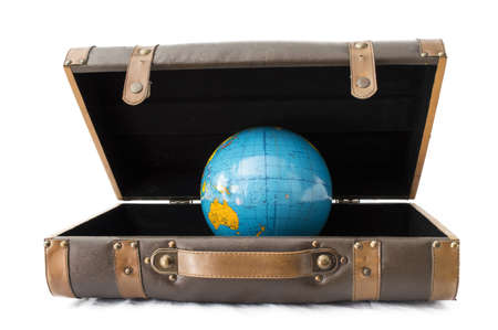 one baggage and Earth blue photo