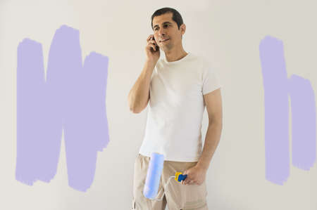 badly painted wall and calling a professional painter Stock Photo - 19800992