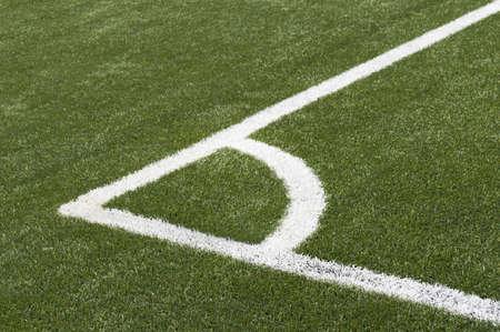 Soccer Football Corner on artificial grass photo