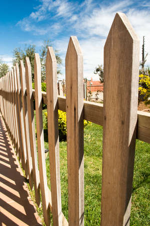 close up a wooden fence  photo