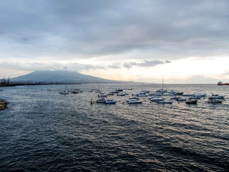 bay of naples with volcano Vesuvius  photo