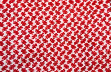 Detail of a texture of traditional jordanian headkerchief Standard-Bild