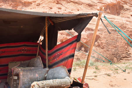 detail of a Bedouin camp in Wadi Rum