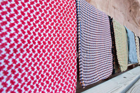 group of  traditional jordanian headkerchief Stock fotó - 32802721