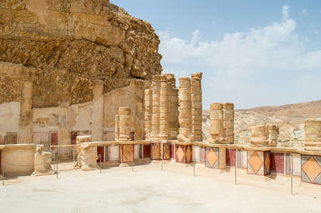 recently: Recently restored these frescoes once adorned the lower terrace of King Herod northern palace on Masada