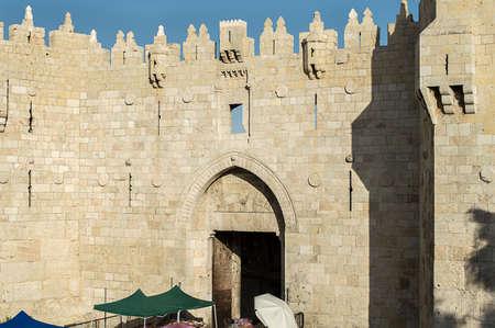 damascus: Jerusalem old city Damascus gate