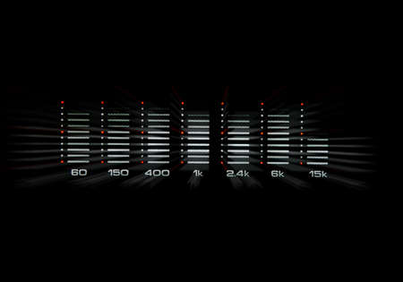 graphic equalizer: Graphic equalizer with black  Stock Photo