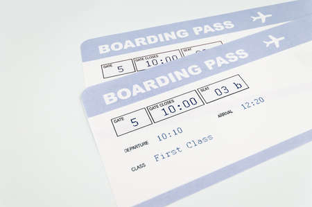 airplane ticket: close up of airline boarding pass