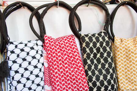 close up of traditional jordanian headkerchief Stock fotó - 42303059