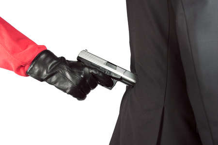 attacked: Businessman being attacked by a criminal