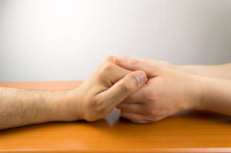 people holding hands: female hands grasping the concept of a man in love
