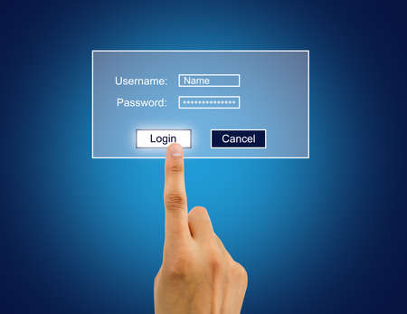 otras palabras clave: hand entering the password for internet connection to access user desktop.All screen content is designed by us and not copyrighted by others and created with digitizing tablet and image editor