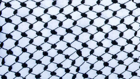 Detail of a texture of traditional jordanian headkerchief Stock fotó - 43978887