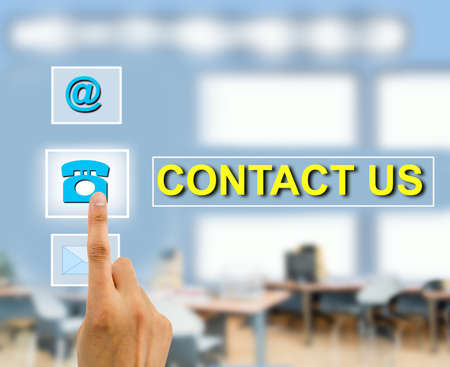 contactus: Contact us concept using female hand touching a button futuristic contact us . All screen content is designed by me and not copyrighted by others and created with wacom tablet and ps