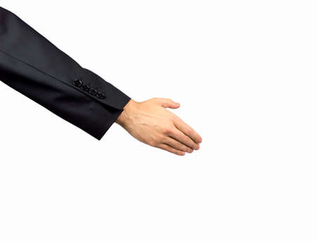 extending: business extending his hand in greeting