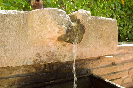 as one: traditional water fountain as one of important element in japanese garden landscape