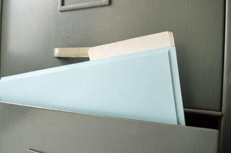 file folders: Detail of file folders in a filing cabinet