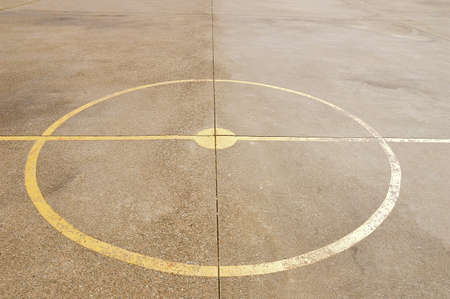 center court: close up of soccer center court and basketball