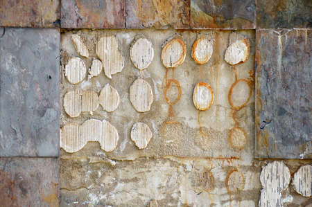 stolen: Broken old tile in the wall and stolen by criminals