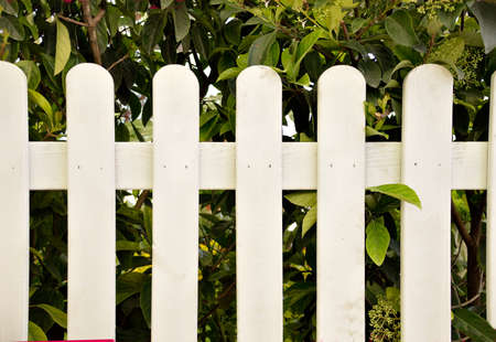 delimitation: close up a wooden fence white