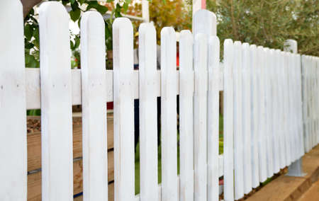 close up a wooden fence white