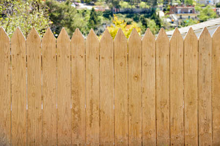 wooden fence at the countryside in sunny day