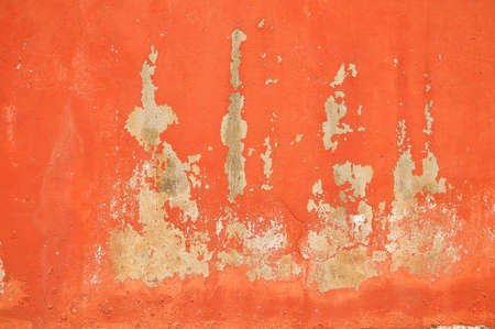 closeup of red wall texture grunge