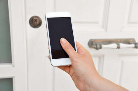 mobile phone used for open safety door of his house