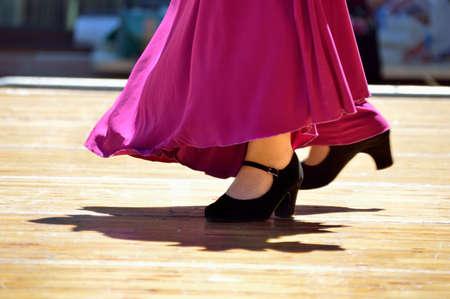 Cropped action shot of flamenco dancers legs Banque d'images