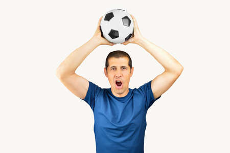 Cropped shot of a young soccer player celebrating his victory