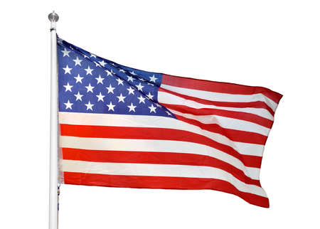 Shot of the flag of the United States of America blowing in the wind