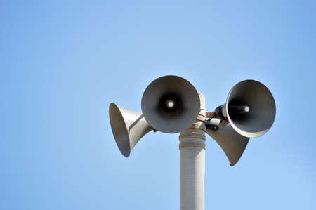 Outdoor public address loudspeakers