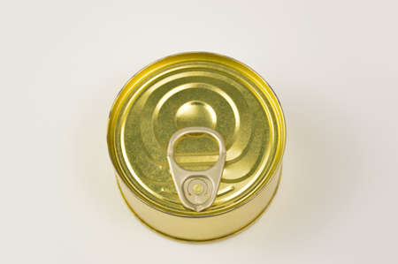 Can of preserved food on white background 版權商用圖片