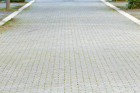 Stone block pathway at city