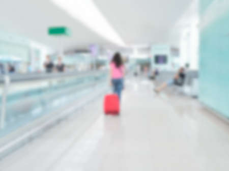 Blur airport with bokeh background