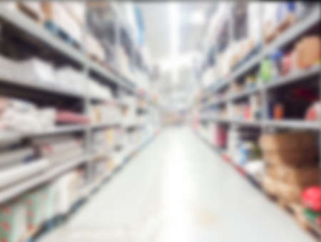 Blur Warehouse inventory product stock for logistic background