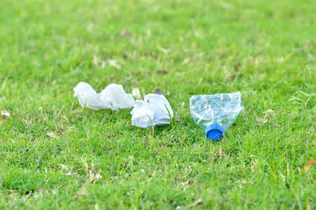 Close up of garbage in the mountain