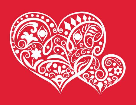 spontaneously: hearts ornament style Illustration